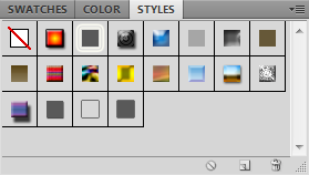 Layer styles panel