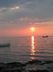 Foto original de la puesta de sol