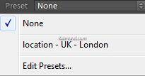 Select a preset